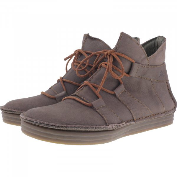 El Naturalista / Modell: N5049 Rice Field / Farbe: Pleasent Plume Taupe Leder / Damen Stiefeletten