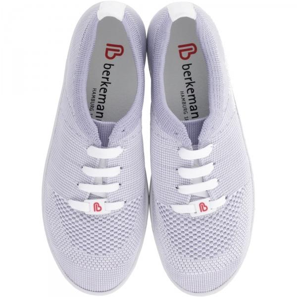 Berkemann Comfort Knit / Modell: Allegra / Grau-Weiß Knit / Form: Antibes / Art: 05450-686 / Damen