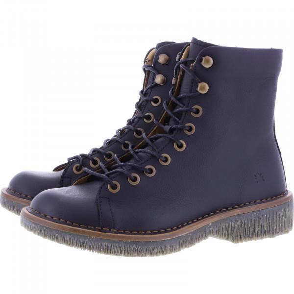 El Naturalista / Modell: N5572 Volcano / Farbe: Soft Grain Black Schwarz Leder / Damen Stiefelette