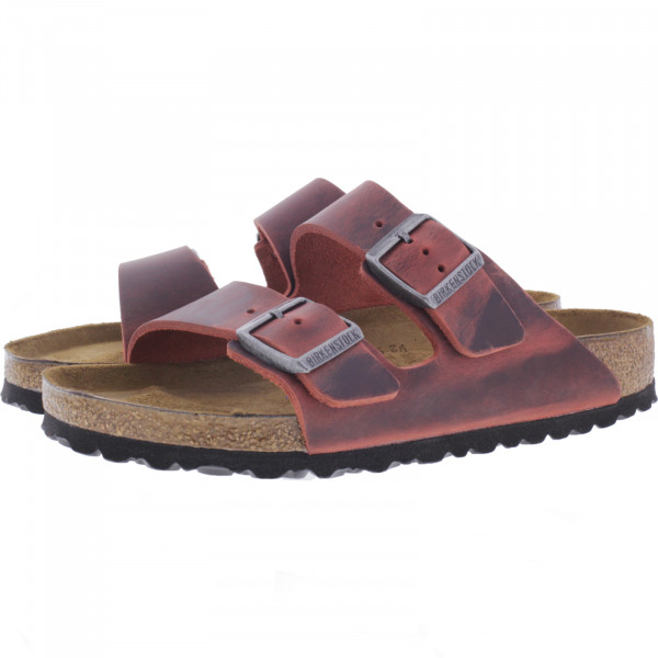 Birkenstock / Modell: Arizona mit Weichbettung / Earth Red Leder / Weite: Normal / Art: 1015544