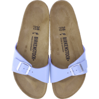 Birkenstock / Modell: Madrid / Dove Blue Birko-Flor-Lack / Weite: Schmal / Art: 1019431 / Damen