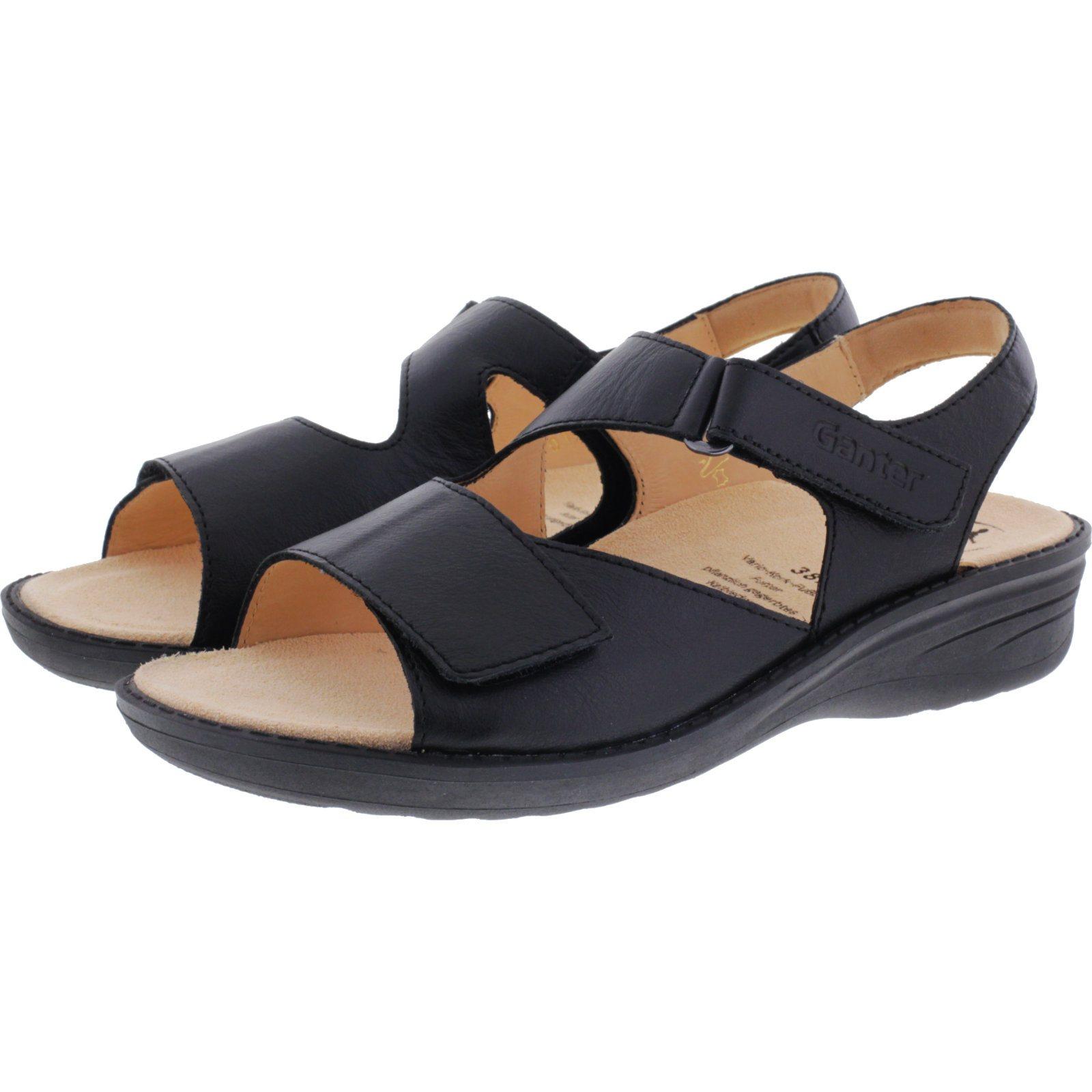ganter hera schwarz ganter damen sandalen g nstig kaufen. Black Bedroom Furniture Sets. Home Design Ideas