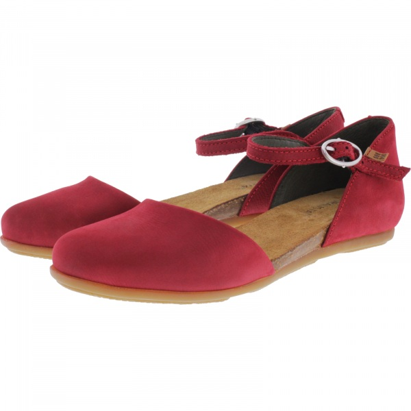 El Naturalista / Modell: ND54 Stella / Farbe: Pleasent Tibet Rot Leder / Damen Ballerinas