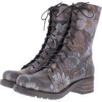 Brako / Modell: Military Giove / Braun-Metallic-Flower Leder / Stiefel / Art: 8470 / Damen