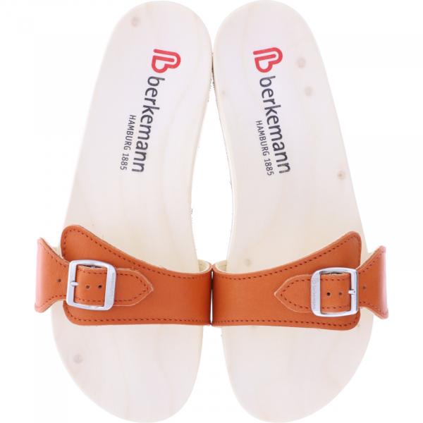 Berkemann / Original-Sandale / B100 / Ecouro Mandarin Nappa Leder / Art: 00106-551 / Holzsandalen