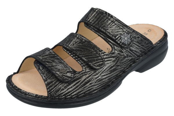 Finn Comfort / Menorca-Soft / Silver / Wechselfußbett / Art: 82564-713362 / Damen Pantoletten