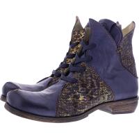 Rovers / Modell: Majar / West Jeans-Multi Leder / Wechselfußbett / Art.: 55004 / Damen Stiefelette