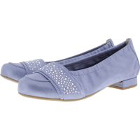 Hassia / Bologna / Sky Blue / Swarovski  / Wechselfußbett / Art: 7-300957-3800 / Damen Ballerinas