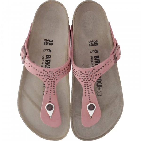 Birkenstock / Modell: Gizeh / Crafted Rivets Doll Rosé Leder / Weite: Normal / Art: 1009756