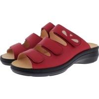 Ganter / Gritt / Rosso-Rot Leder / Wechselfußbett / Weite: G / Art: 5-205611-4100 / Damen Pantolette