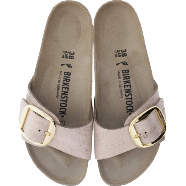 Birkenstock / Modell: Madrid Big Buckle / Washed Metallic Rose Gold / Weite: Schmal / Art: 1012888