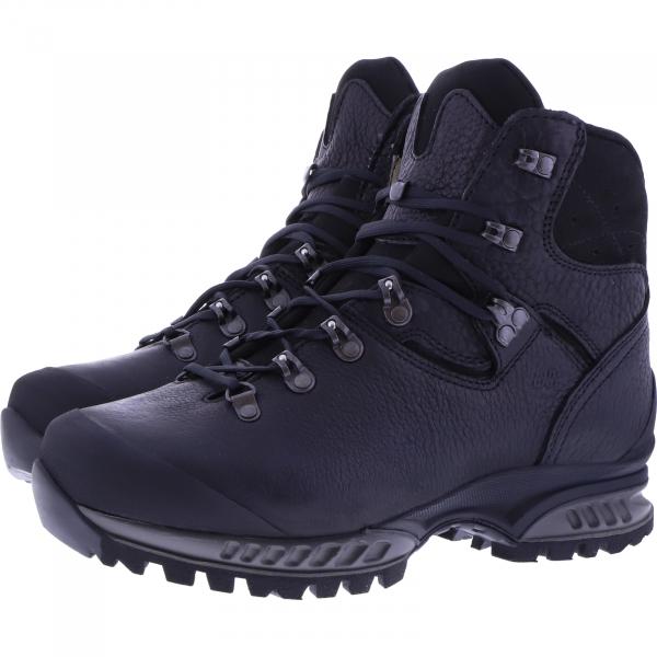 Hanwag / Modell: Lhasa II / Black/Asphalt / Yak Leder / Herren Wanderstiefel