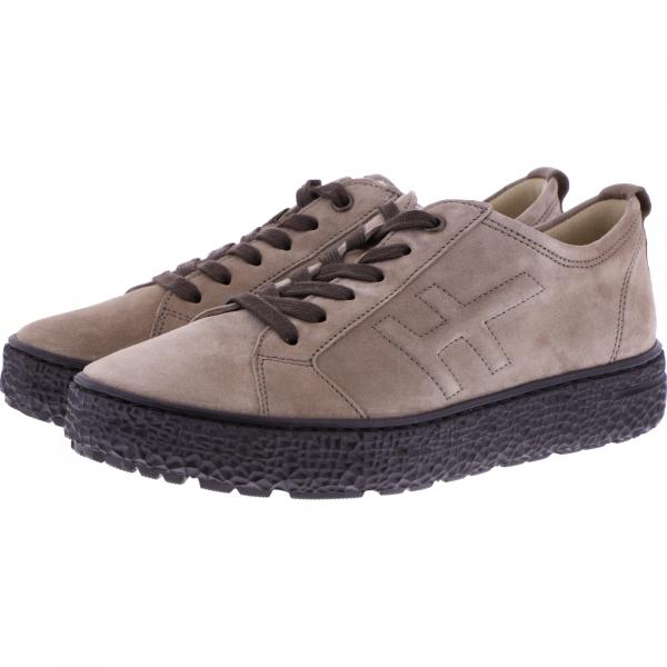 Hartjes / Modell: Phil / Taupe Veloursleder / Weite: H / 1621423-4141 / Damen Sneakers