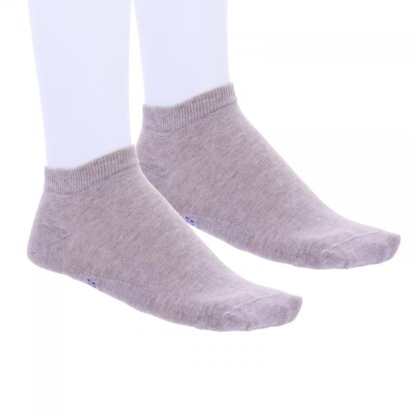 Birkenstock Herren Sneaker Socken - Cotton Sole Sneaker - 2er Pack - Camel-Beige Melange