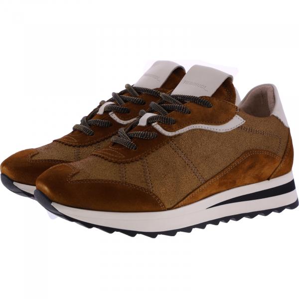 Piedi Nudi / Modell: H-Fit Sneaker / Farbe: Cuoio Braun Combi / Art.: 2487-0307 / Damen
