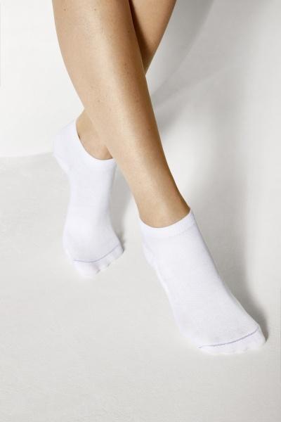 Birkenstock Damen Sneaker Socken - Cotton Sole Sneaker 2-Pack - Weiss