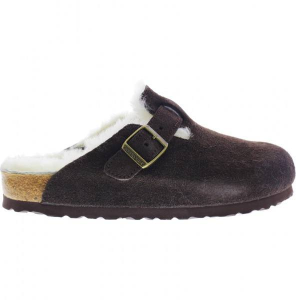 birkenstock boston velours mocca