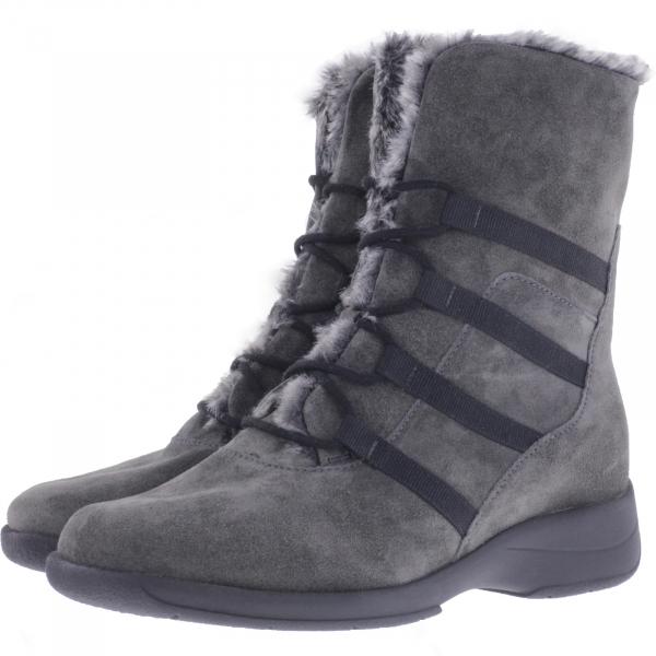 Solidus / Mary / Gray-Anthrazit Leder / Weite: M / 58155-20626 / Damen Stiefel mit Lammfell