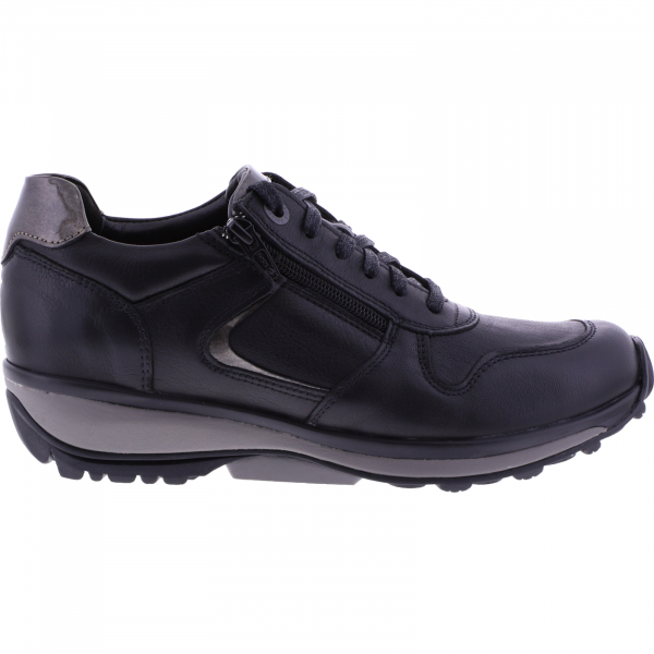 Xsensible Stretchwalker / Modell: Jersey / Schwarz Leder / Art: 300423-001 / Damen Sneakers