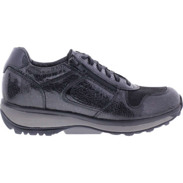 Xsensible Stretchwalker / Modell: Jersey / Black Crash Lackleder / Art: 300422-095 / Damen Sneakers