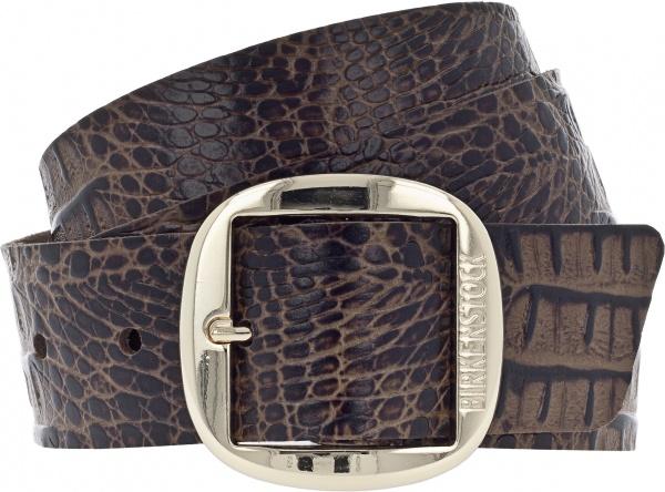 Birkenstock Gürtel / Modell: Knoxville / Breite: 40mm / Gator Brown Leder / Damen Gürtel