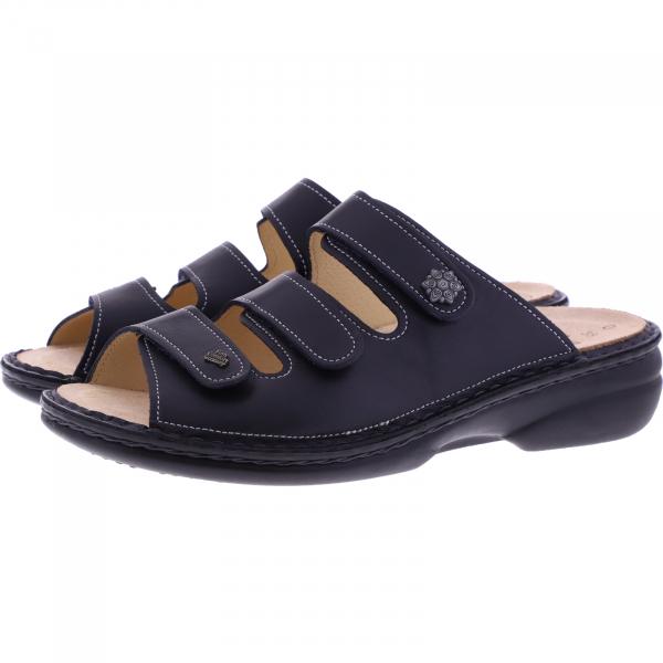 Finn Comfort / Menorca-Soft / Atlantic Blau / Wechselfußbett / Art: 82564-718041 / Damen Pantoletten