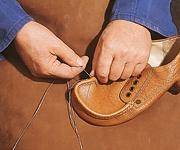 Jacoform Schuhe Fertigung Handnaht
