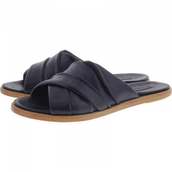 Neosens / Modell: S916 / Aurora Black Schwarz Leder / Edle Damen Pantoletten