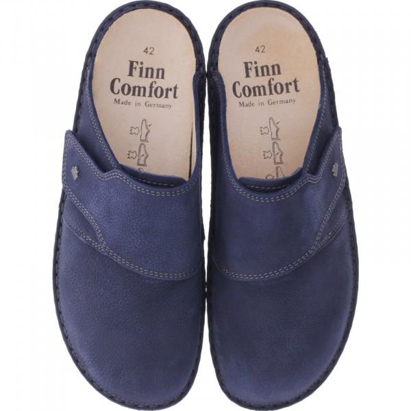 f220c12154639a Finn Comfort   Amalfi   Marine-Blau Leder   Wechselfußbett   Art  01515-
