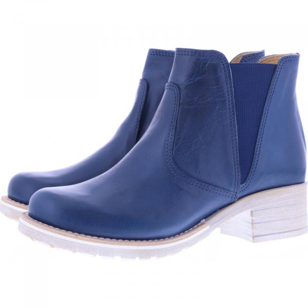 Brako / Modell: Military / Roma Jeans Blau Glattleder / Chelsea / Art: 8473 / Damen Stiefelette