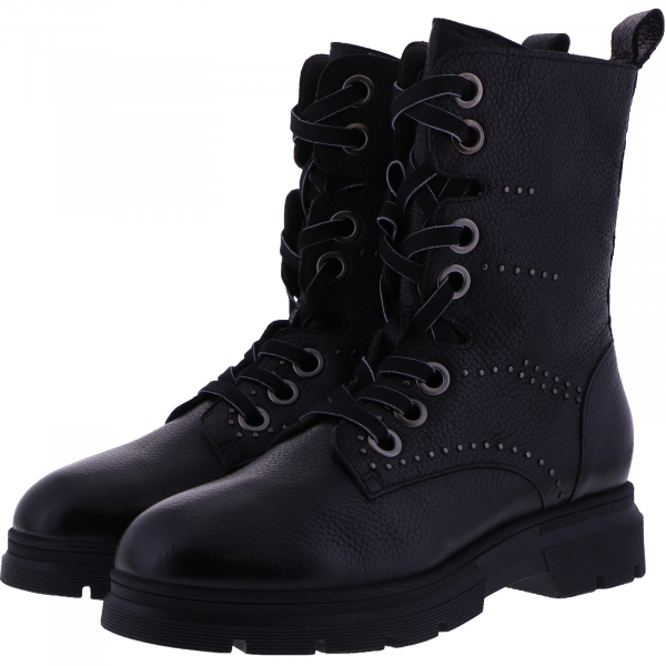 Piedi Nudi / Modell: Ottawa / Farbe: Negro Schwarz Nieten / Art.: 38204-1016002 / Damen Stiefel