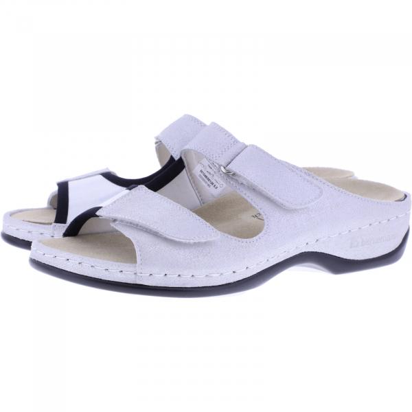 Berkemann / Modell: Kalida / Weiß-Silber Leder-Stretch / Form: Melbourne / Art: 01048-126 / Damen