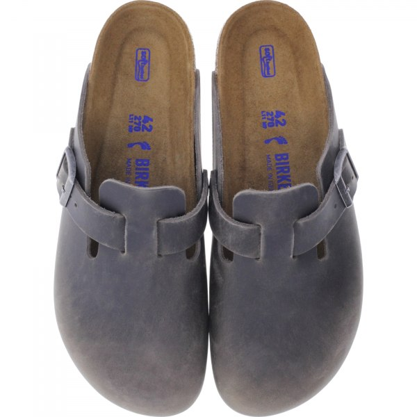 Birkenstock / Modell: Boston mit Weichbettung / Iron Leder / Weite: Normal / Art: 1013256 / Herren