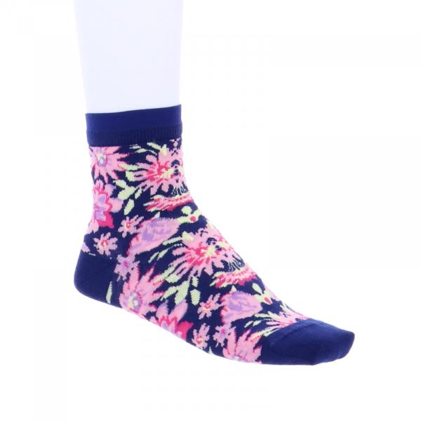 Birkenstock Damen Socken - Cotton Flowers - Blue Nights
