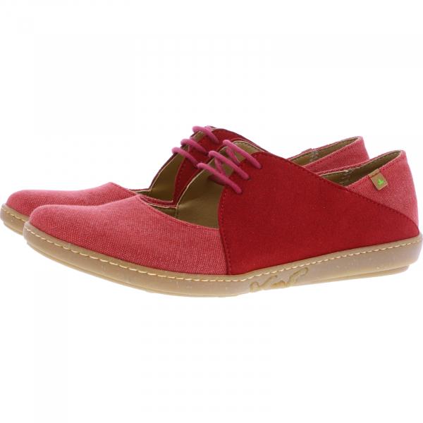 El Naturalista / Modell: N5228T Coral / Farbe: Tibet Rot Baumwolle/Mikrofsaser / Vegane Damen Schuhe