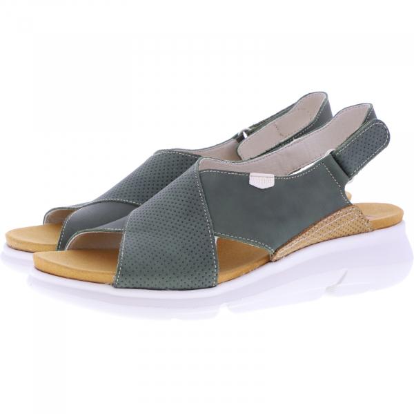 OnFoot / Modell: Bora / Farbe: Khaki Leder / Art.: 90107 / Damen Sandalen