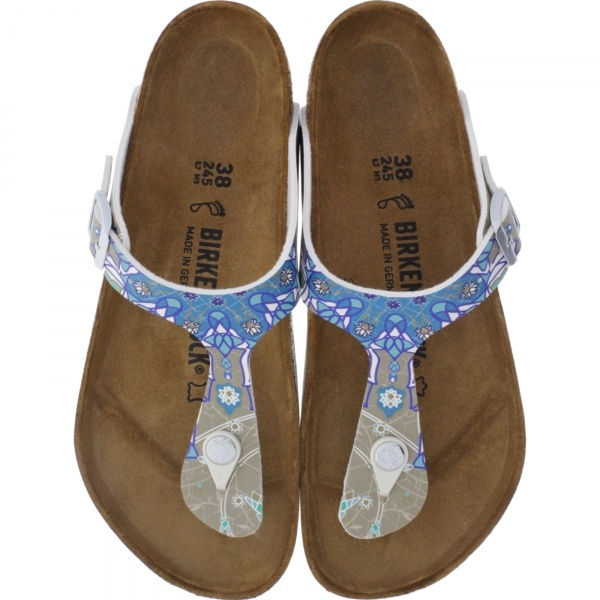 Birkenstock / Modell: Gizeh / Ancient Mosaic Taupe / Weite: Normal / Art: 1009806 / Damen Zehensteg