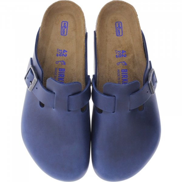 Birkenstock / Modell: Boston mit Weichbettung / Blue Leder / Weite: Normal / Art: 1013646 / Herren
