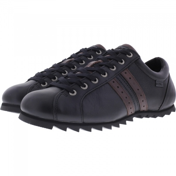 Snipe / Modell: New Rippel Men / Negro-Marron Leder / Schnürer / Art: 42830-003 / Herren Sneakers