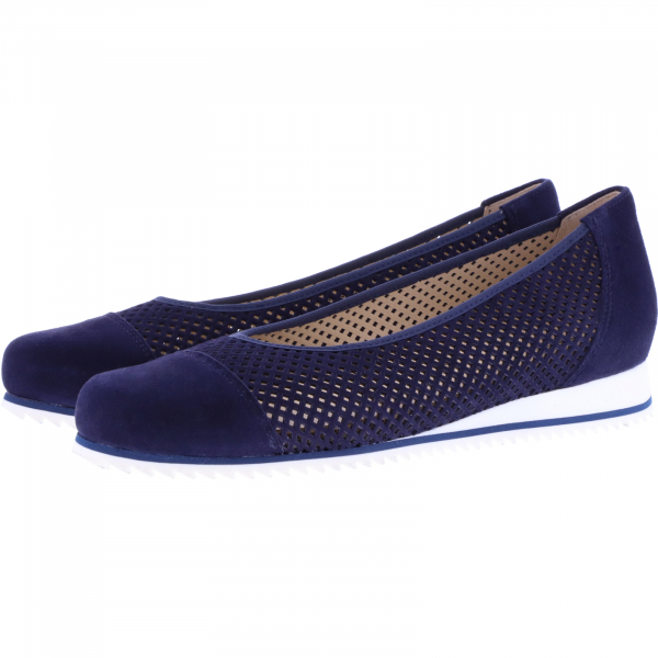 Hassia / Piacenza / Blau Leder / Wechselfußbett / Art: 1-301622-3200 / Damen Ballerinas