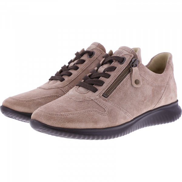 Hartjes / Modell: Breeze / Sand-Schlamm-Veloursleder / Weite: G / 1621136-0435 / Damen Sneakers