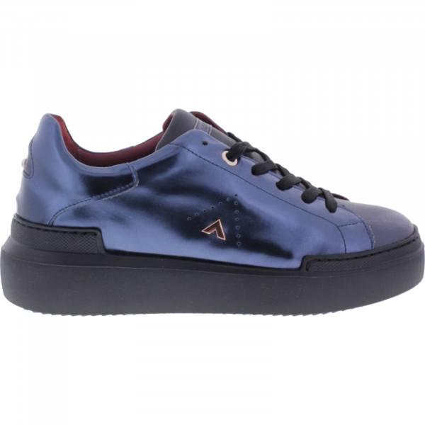 Ed Parrish Sneakers / Modell: Lily / Graphite-Blaul Metallic / Wechselfußbett / Damen Sneakers