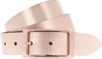 Birkenstock Gürtel / Modell: Illinois Metallic / Breite: 30mm / Rose Gold Leder / Damen Gürtel 80cm
