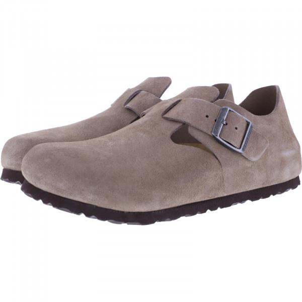 Birkenstock / Modell: London / Taupe Velours / Weite: Schmal / Art: 1010504 / Damen Schuhe