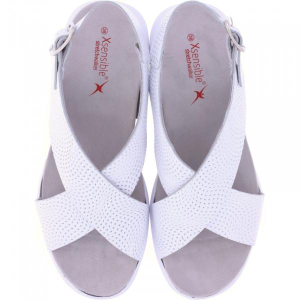 Xsensible Stretchwalker / Modell: Corfu / White-Silver / Leder / Art: 300365-165 / Damen Sandalen