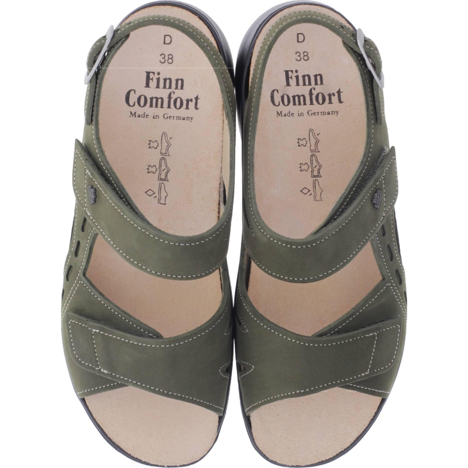 Nubuk Finn Sandalen Wechselfußbett Damen Art03352 Suva Comfort Olive 007223 zSMVpU