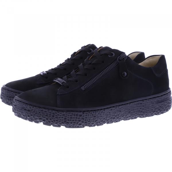 Hartjes / Modell: Phil / Schwarz Nubukleder / Weite: H / 140562-0101 / Damen Sneakers