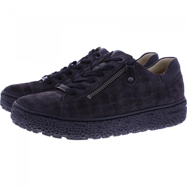 Hartjes / Modell: Phil / Smoke-Schwarz Leder / Weite: H / 1621421-1401 / Damen Sneakers