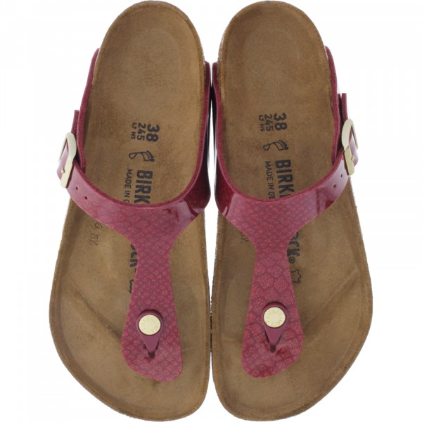 Birkenstock / Modell: Gizeh / Magic Snake Bordeaux / Weite: Normal / Art: 1013629