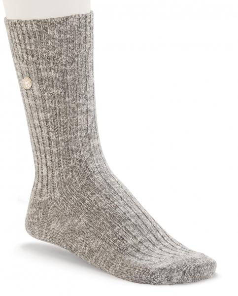 Birkenstock Damen Socken - Cotton Slub - Grau-Weiß Meliert